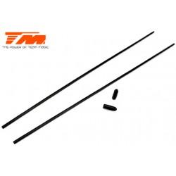 TM115016BK Tubes d'antenne - Noir (2 pces)