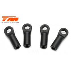TM115028BK Chapes - Gaz / Frein - Noir - 4 Pces