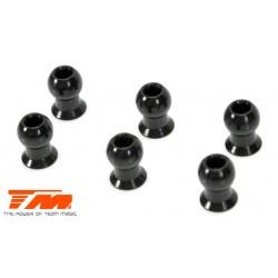 TM115033 Pièce détachée - E4RS II / E4RS III / E4RS4 - Rotules 5.8mm longues acier (6 pces)