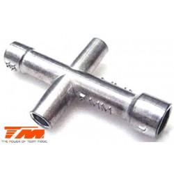 TM116043 Outil - Clé en croix (4, 5, 5.5 & 7mm)