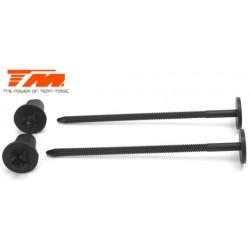 TM116068BK Support de roues - 1/10 (2 pces)