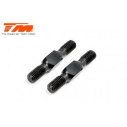 TM116132ABK Biellettes à pas inversé - Aluminium - Clé 3.5mm - 3x 20mm - Noir (2 pces)
