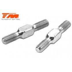 TM116132AS Biellettes à pas inversé - Aluminium - Clé 3.5mm - 3x 20mm (2 pces)