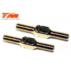 TM116132GD Biellettes à pas inversé - Gold - 3x 20mm (2 pces)