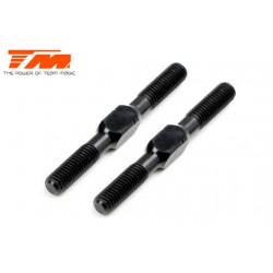 TM116133ABK Biellettes à pas inversé - Aluminium - Clé 3.5mm - 3x 30mm - Noir (2 pces)