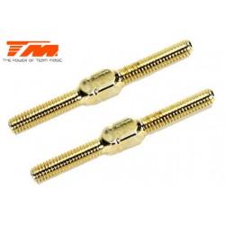 TM116133GD Biellettes à pas inversé - Gold - 3x 30mm (2 pces)