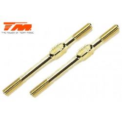 TM116134GD Biellettes à pas inversé - Gold - 3x 40mm (2 pces)