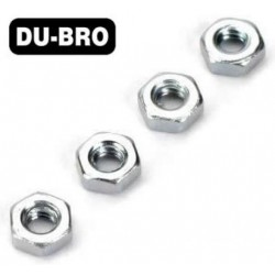 DUB2106 Nuts - 4mm Hex Nuts (4 pcs per package)