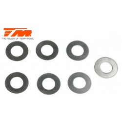TM116204 Rondelles - 7 x 13 x 0.1mm (3 pces), 7 x 13 x 0.3mm (2 pces) & 7 x 13 x 0.5mm