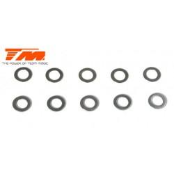 TM116209 Rondelles - 3 x 4.8 x 0.15mm (5 pces) & 3 x 4.8 x 0.3mm (5 pces)