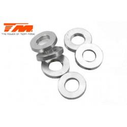 TM116216 Rondelles - 3 x 6 x 1mm Aluminium (6 pces)