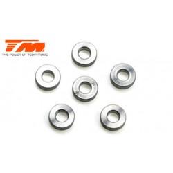 TM116219 Rondelles - 3 x 6 x 2mm Aluminium (6 pces)
