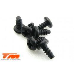 TM116306BDCR Vis - tête ronde - autotaraudeuse - 3 x 6mm (6 pces)
