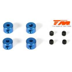 TM117001B Bagues d'Arrêt - Aluminium - Bleu (4 pces)