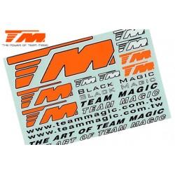 TM118003O Autocollants - Team Magic - 145 x 100mm – Orange