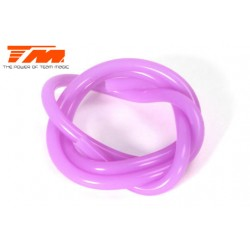 TM119001P Durite pour mélange nitro - 0.6m - Purple translucide