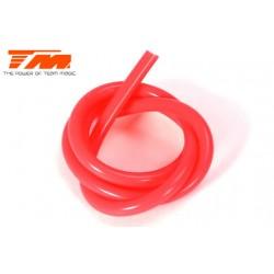 TM119001R Durite pour mélange nitro - 0.6m - rouge translucide