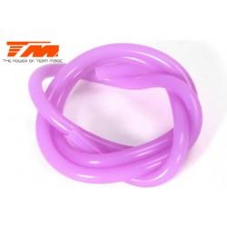TM119004P Durite pour mélange nitro - Gros débit (2.5mm) - 1m - purple translucide