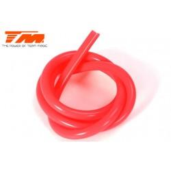 TM119004R Durite pour mélange nitro - Gros débit (2.5mm) - 1m - rouge translucide