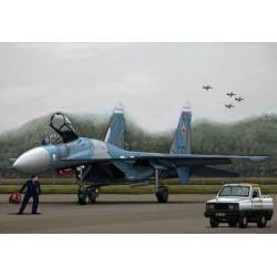 TRU03909 TRUMPETER Russian SU-27 Flanker B 1/144