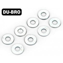 DUB2108 Washers - 2.5mm Flat Washers (8 pcs per package)