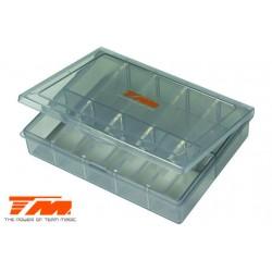 TM119226 boîte plastique - Team Magic - Pièces - réglable - Parfait pour ressorts d'amortisseurs 13 x 10 x 2.8cm