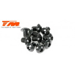 TM122505BU Vis - tête ronde - Hex (Allen) - M2.5 x 5mm (10 pces)