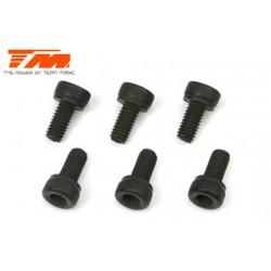 TM123512C Vis - tête cylindrique - Hex (Allen) - M3.5 x 12mm (6 pces)