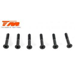 TM123518 Vis - tête fraisée - M3.5 x 18mm (6 pces)