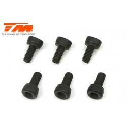 TM126206C Vis - tête cylindrique - Hex (Allen) - M2 x 6mm (6 pces)
