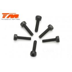 TM126208C Vis - tête cylindrique - Hex (Allen) - M2 x 8mm (6 pces)