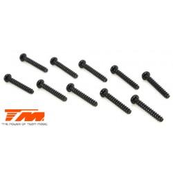 TM126212BU Vis - tête ronde - M2 x 12mm (10 pces)