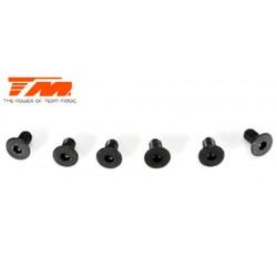 TM126306 Vis - tête fraisée - Hex (Allen) - M3 x 6mm (6 pces)