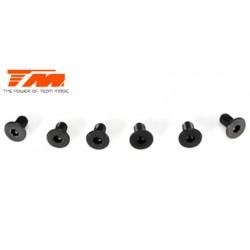 TM126306CR Vis - tête fraisée - M3 x 6mm (6 pces)