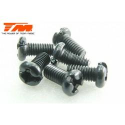 TM126306RCR Vis - tête ronde - M3 x 6mm (6 pces)