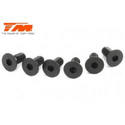 TM126307 Vis - tête fraisée - Hex (Allen) - M3 x 7mm (6 pces)