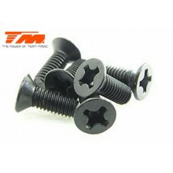 TM126308CR Vis - tête fraisée - M3 x 8mm (6 pces)