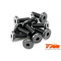 TM126308SBU Screws - Button Head - Hex (Allen) - M3 x 8mm Half Thread (10 pcs)