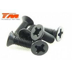 TM126312CR Vis - tête fraisée - autotaraudeuse - 3 x 12mm (6 pces)