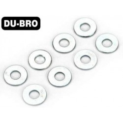 DUB2109 Washers - 3mm Flat Washers (8 pcs per package)
