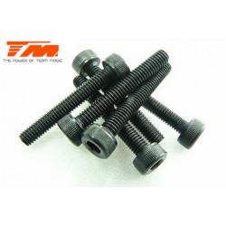 TM126320C Vis - tête cylindrique - Hex (Allen) - M3 x 20mm (6 pces)