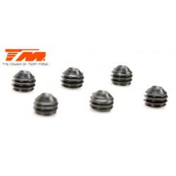 TM126403S Vis sans tête - M4 x 3mm (6 pces)
