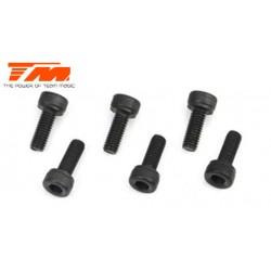 TM126410C Vis - tête cylindrique - Hex (Allen) - M4 x 10mm (6 pces)