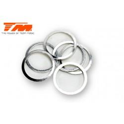 TM130107 Rondelles - 13.2 x 15.9 x 0.5mm (6 pces)