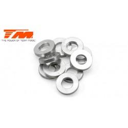 TM130114 Rondelles - 3 x 6 x 1mm Aluminium (10 pces)