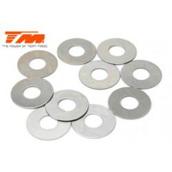 TM130117 Rondelles - 6.2 x 15 x 0.3mm (10 pces)