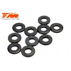TM130119 Rondelles - 3.6 x 8 x 1mm (10 pces)
