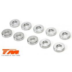 TM130124 Rondelles - 3 x 7.5 x 1.5mm Aluminium (10 pces)