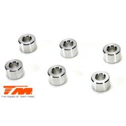 TM130125 Rondelles - 3 x 6 x 4mm Aluminium (6 pces)