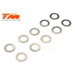 TM130133 Rondelles - 8.1 x 12 x 0.5mm (10 pces)